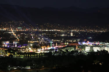 San Fernando Valley (Universal City) - Night Shot by shadow-tw