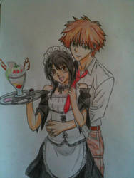 Misaki and Usui by Xenii-chan