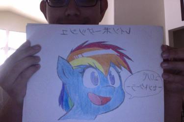 Anime Rainbow Dash by Chrismilesprower