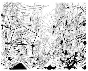 Superman#22 pages 16-17 pencils and inks by me by geraldohsborges