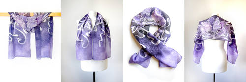 Bouquet of Lilacs scarves - on ETSY by MinkuLul