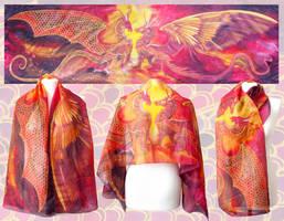 Dragons In Love scarf by MinkuLul
