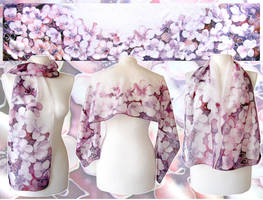 Silk Scarf Cherry Blossom - ready! by MinkuLul