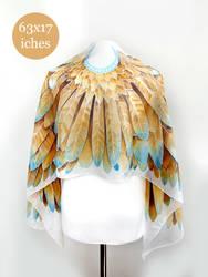 Gold Wings silk scarf by MinkuLul