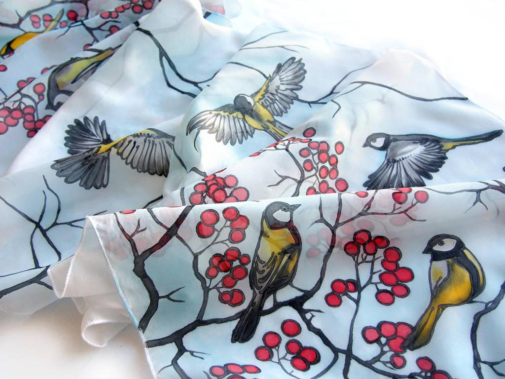 Winter silk scarf by MinkuLul