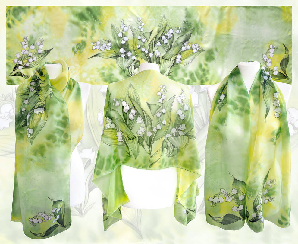 Lily Of The Valley silk scarf by MinkuLul