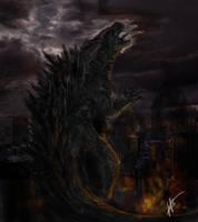 Godzilla by HazelTheHobbit