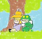 Suwako and Toadman by IrukaAoi
