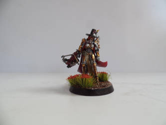 Inquisitor Greyfax with red flowers front. by lurtz1986