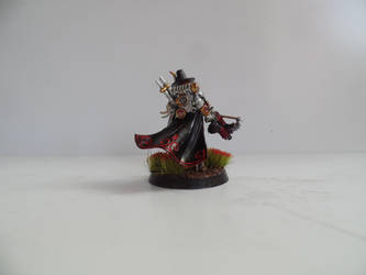 Inquisitor Greyfax with red flowers back. by lurtz1986
