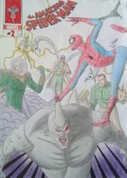 #SpiderMan spidey vs the six #SinisterSix  by Brunneo42comicslover