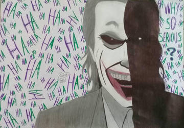 #TheJoker let's put a smile on that face  by Brunneo42comicslover