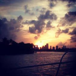 Biscayne Bay Sunset by EndreDolmseth