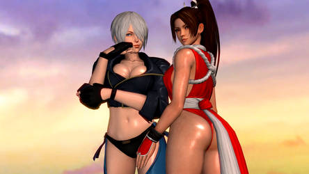 King of Fighters (2a - Angel and Mai) by AdeptusInfinitus