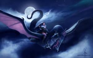 Dragon rider by YngveMartinussen