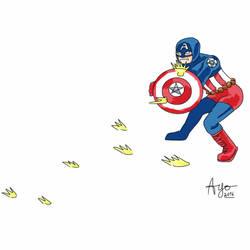 Captain America by nervousystem