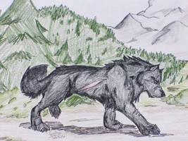 Dark Wolf by firefly16161616