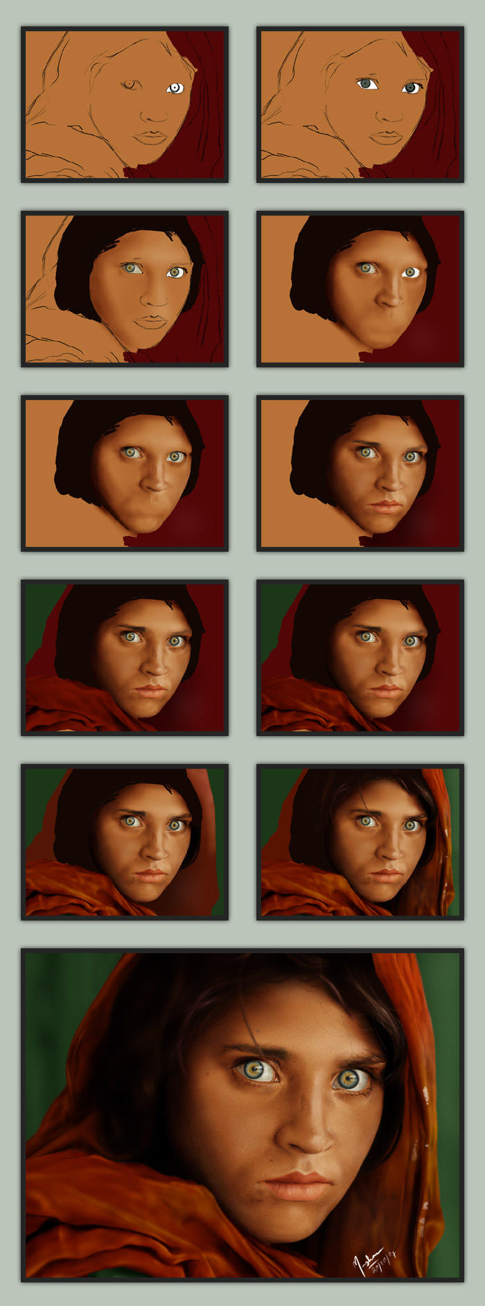 Afghan Girl ::: The Making by mazhear