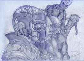 Guardians of the Galaxy by Chrono-Kira