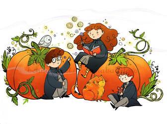 Halloween at Hogwarts by Nachan