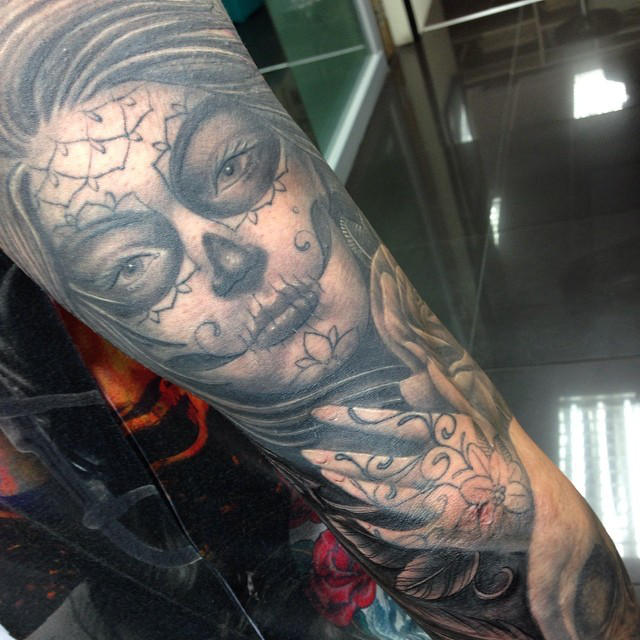 Day Of The Dead Girl Tattoo Sleeve By Craig Holmes By