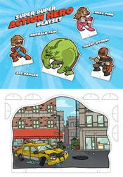 Superhero Cutout Card by DerekHunter