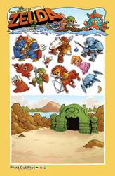PrintCutPlay: Zelda by DerekHunter