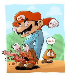 Mario Sketch by DerekHunter