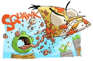 Angry Birds Sketch by DerekHunter