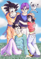 Shadow Dragon Group in Color by lauraneato