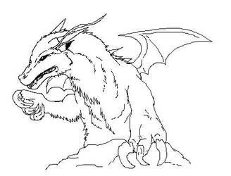 Dracon Sketch by DEAFHPN
