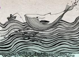 whale's song for man by Shuharik