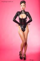 Jade Vixen in Black Latex No 1 by jlrimages