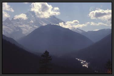 Behind Rainier by wally626