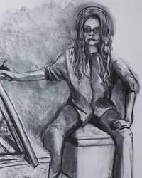 Self portrait in studio by tigerlily-gamgee