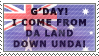 G'DAY... Stamp by SharpAnimationInc
