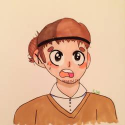 Asahi doodle by artbycaeli