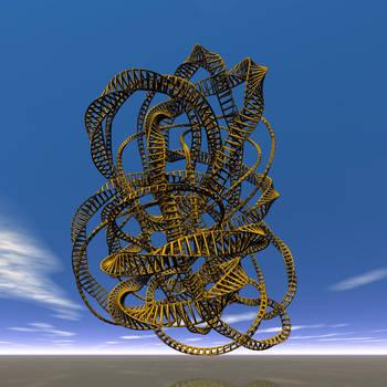 Single stranded knot by giovannigabrieli