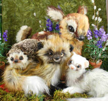 Forest Family~ Heidi Riker Poseable Creature Dolls by RikerCreatures