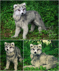 Fantasy Elven Wolf - Lifesize Poseable Creature by RikerCreatures