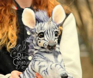 Baby Zebracorn - Fantasy Poseable Creature by RikerCreatures