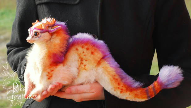 Fantasy Lilac Dragon by RikerCreatures