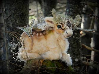 Luna the Moth Deer by RikerCreatures