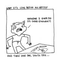 Being an artist by JojoEmmet