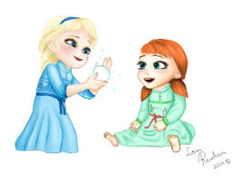 Elsa and Anna, play time by LoverRevolveri