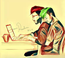 Septiplier part 3, working together by LoverRevolveri