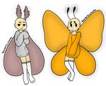 Moth and butterfly adopts (closed) by WeirdCoffeeCup