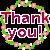 Thank You! Flower Wreath Message [F2U]