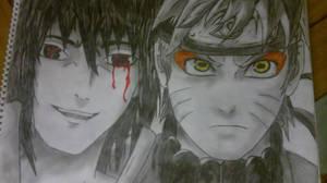 Naruto and Sasuke by joereynolds