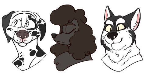 pup busts by snaximation